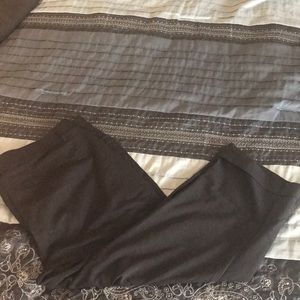 Lane Bryant black Capri slacks